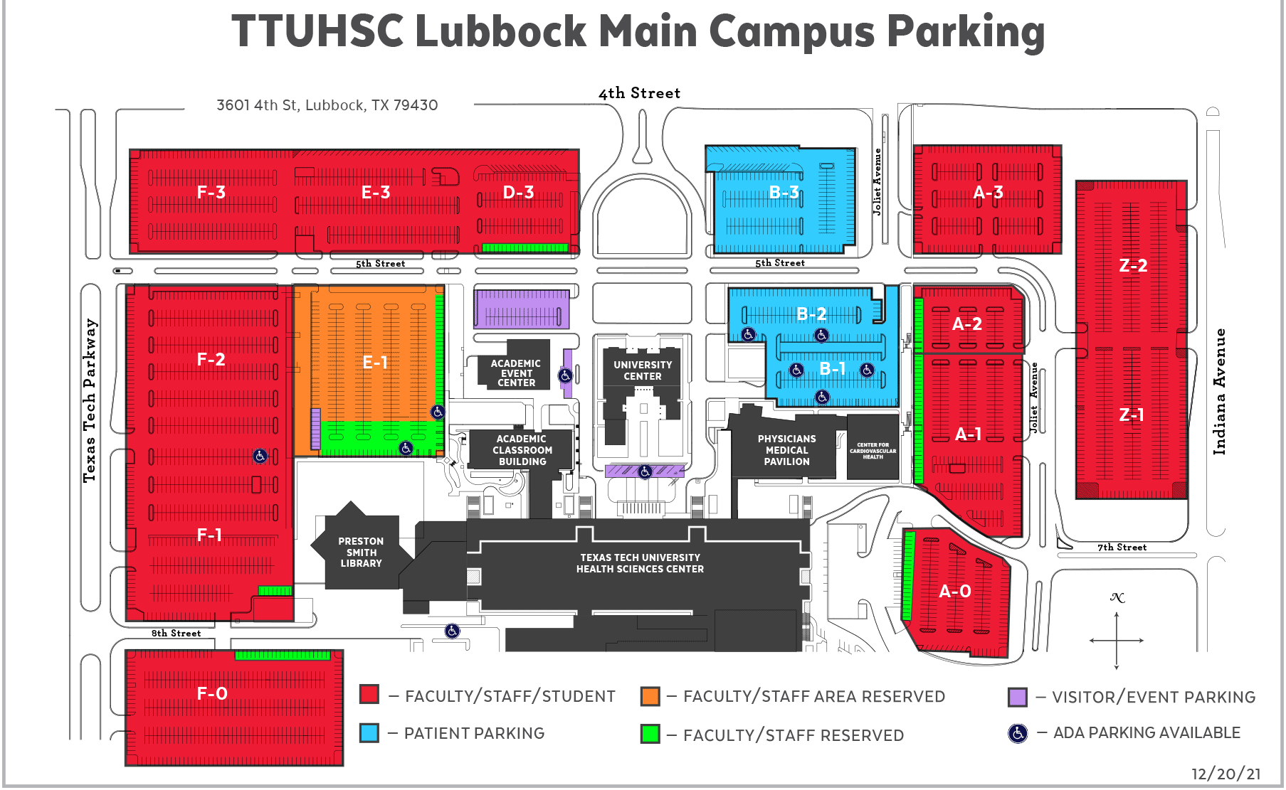 Parking Maps | Parking Services | Finance | TTUHSC
