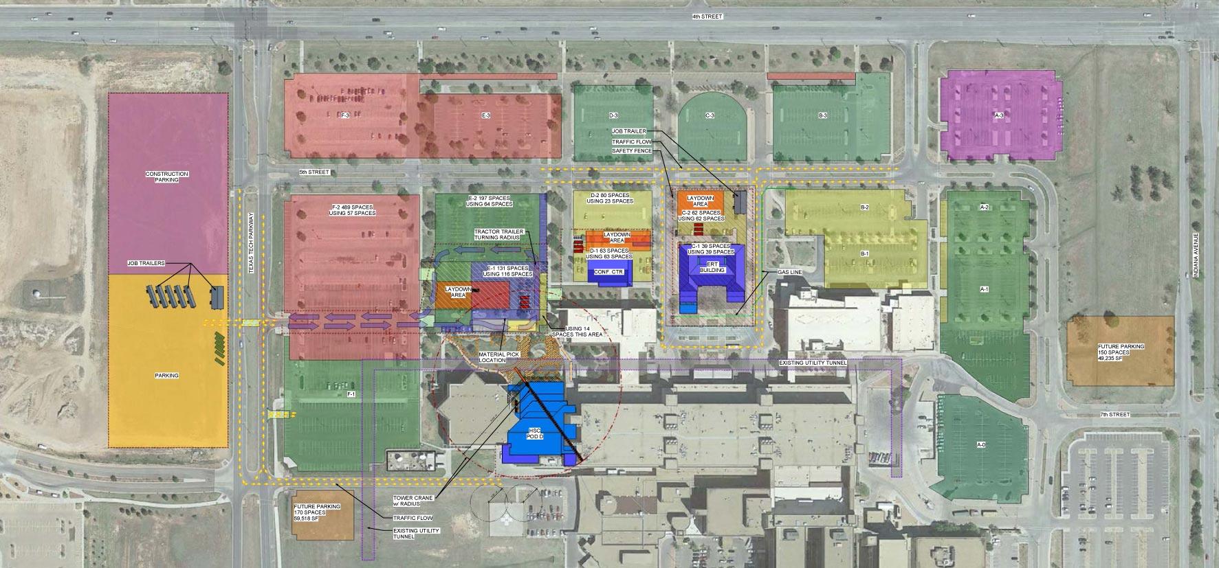 Construction Maps | Parking Services | Finance | TTUHSC