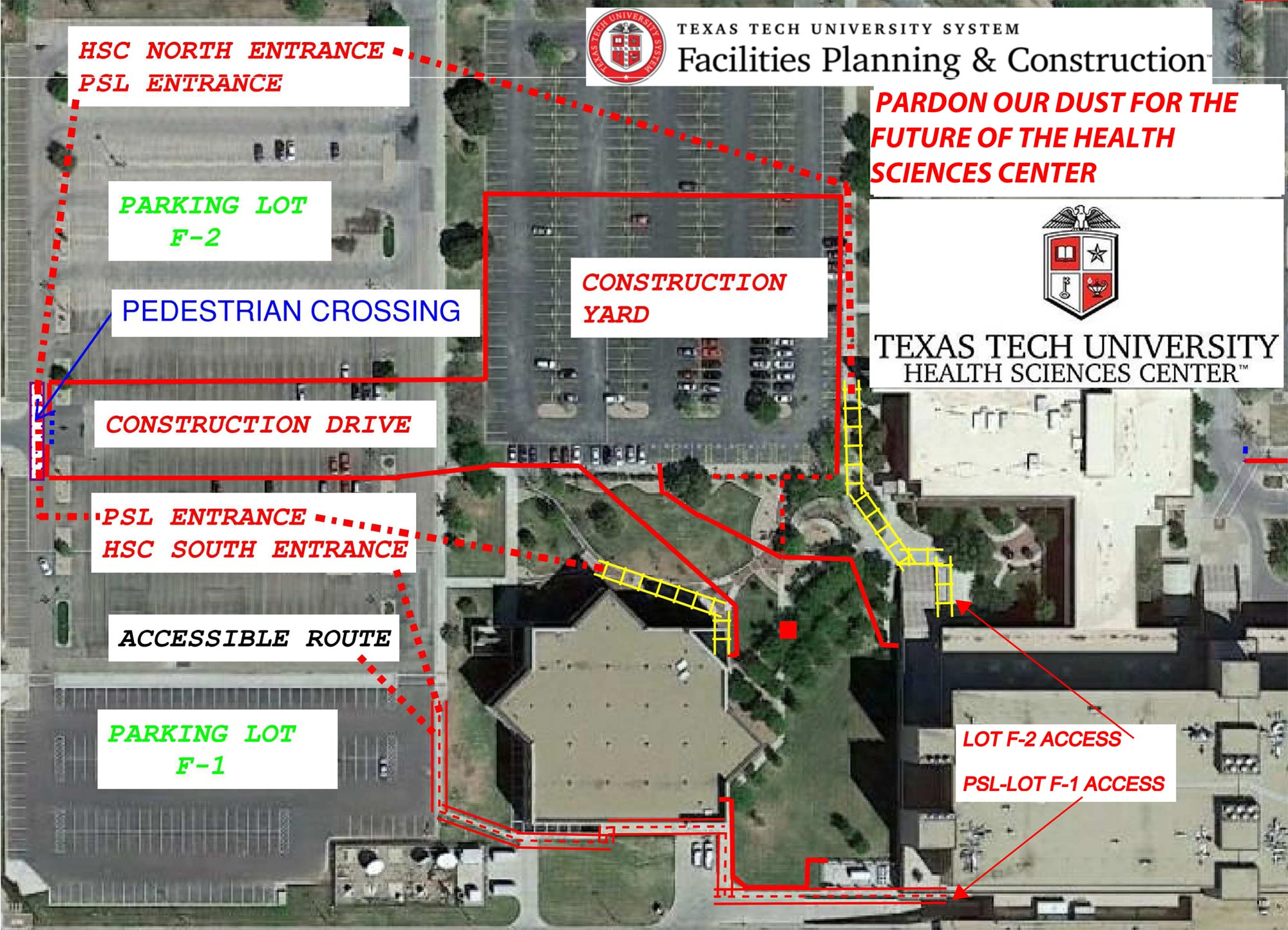 Umc Campus Map.Parking Maps Parking Services Finance Ttuhsc